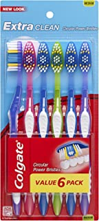 Colgate Extra Clean Full Head Toothbrush, Medium - 6 Count