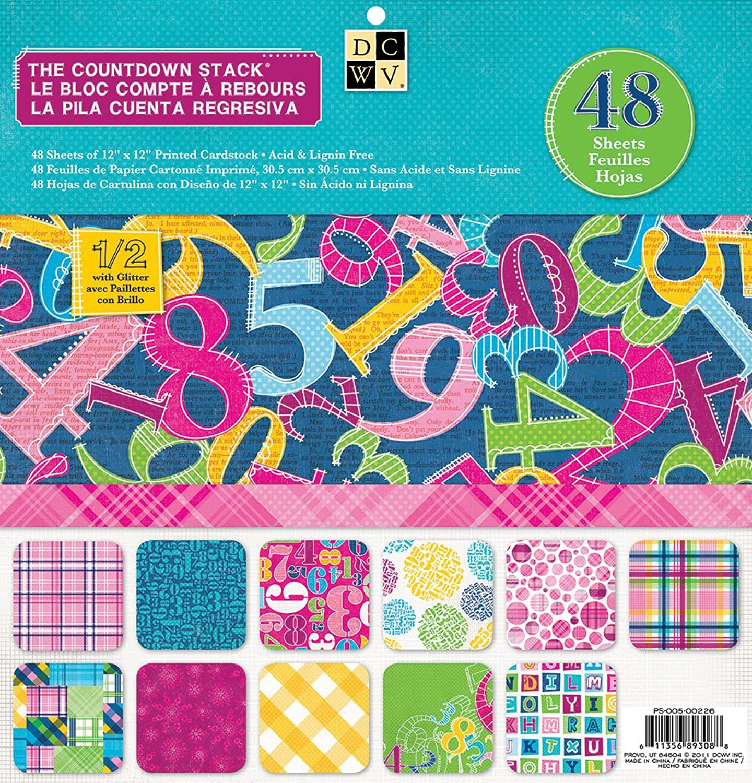 Plaids & Countdown Papier Stack 30,5 x 30,5 cm cm cm 48 Blatt B008OENKBU   Deutschland  c5eb0d