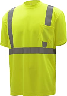 CJ Safety CJHVTS2001 ANSI Class 2 High Vis Short Sleeve Safety Shirt | Moisture Wicking Mesh 2