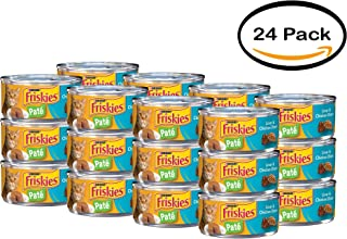 PACK OF 24 - Purina Friskies Classic Pate Liver & Chicken Dinner Cat Food 5.5 oz. Can