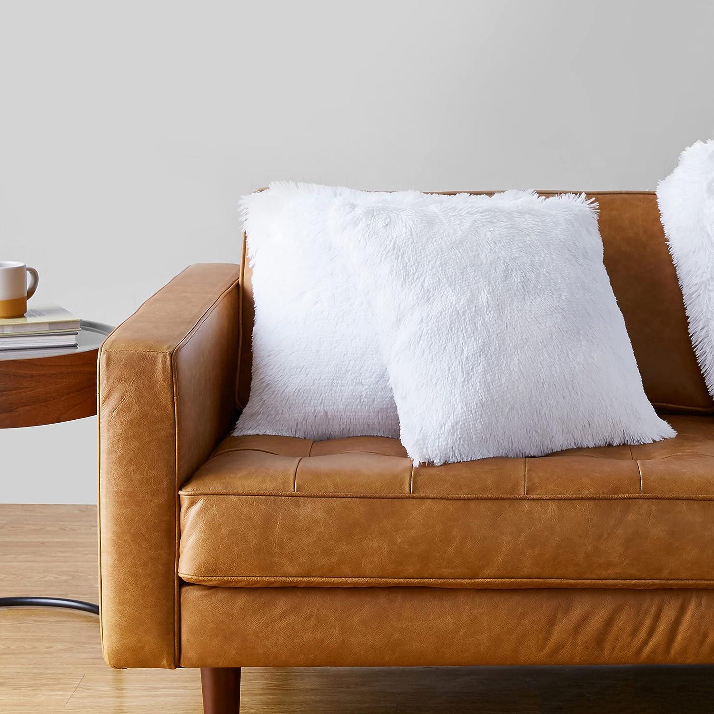 Home & Kitchen Throws 18x18 Basics Shaggy Long Fur Faux Fur Throw ...