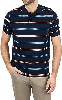 Blazer Men's Daniel Stripe Polo, Navy Orange