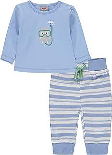 Kanz Conjunto de camiseta de manga larga y pantalones de jogging, 2 piezas, para niños y niñas