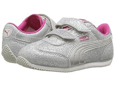 Puma Kids Whirlwind Glitz V (Toddler) (Puma Silver/Beetroot Purple/Gray Violet) Girls Shoes