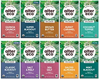 Alter Eco | Dark Chocolate Bars Variety Pack | Pure Dark Cocoa, Fair Trade, Organic, Non-GMO, Gluten Free (...