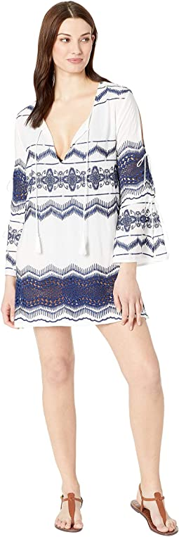 Social Club Cold Shoulder Tunic Top Cover-Up