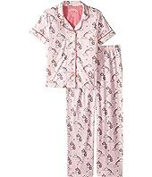 Unicorn Spirit Notch Collar PJ Set (Little Kids/Big Kids)