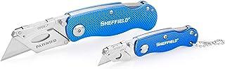 Sheffield 12117 Folding Lock-Back Utility Knives, 2-Piece