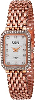 Burgi Women's BUR098 Crystal Accented Swiss Quartz Watch Bracelet