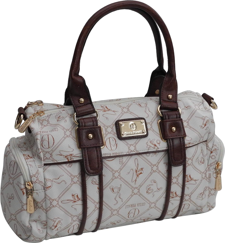 Giulia Pieralli Kaffee Braun Damen Handtasche Damentasche Bowlingtasche