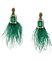 Oscar de la Renta - Feather Drop Earrings