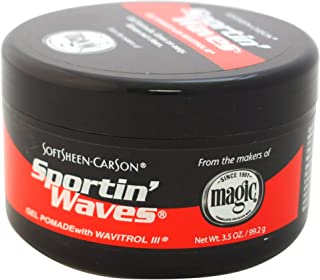 SoftSheen-Carson Sportin' Waves Gel Pomade with Wavitrol III, 3.5 oz