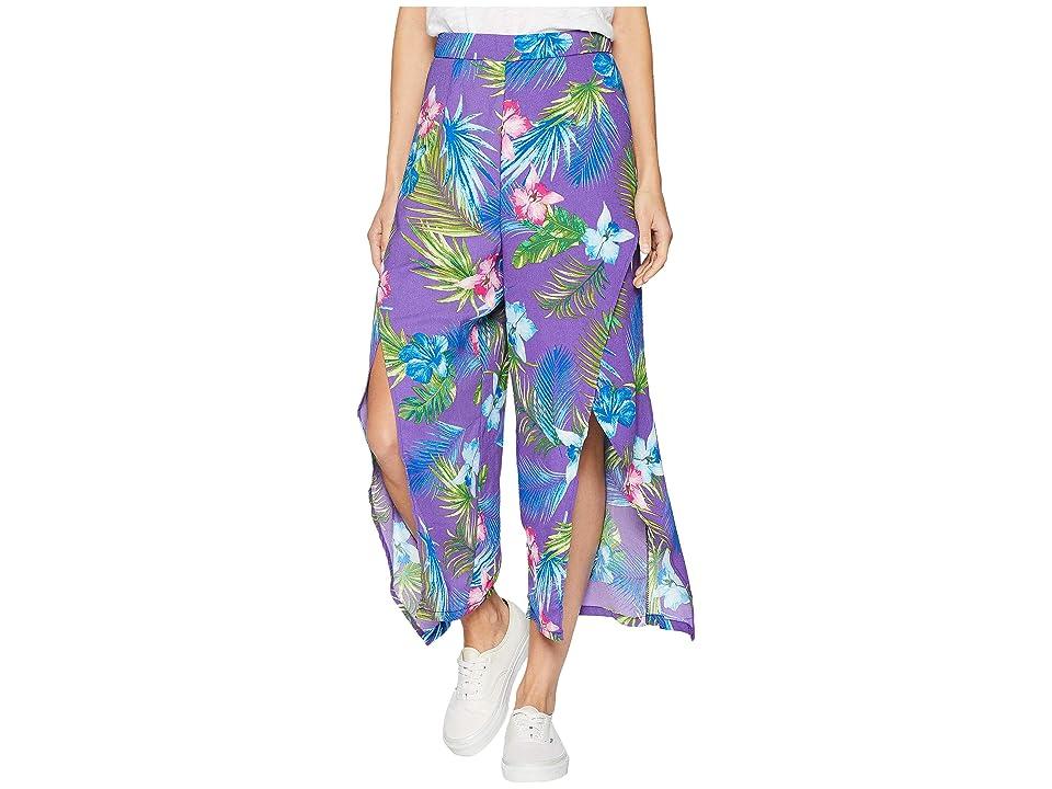 ROMEO & JULIET COUTURE Front Slit Pants (Violet Multi) Women