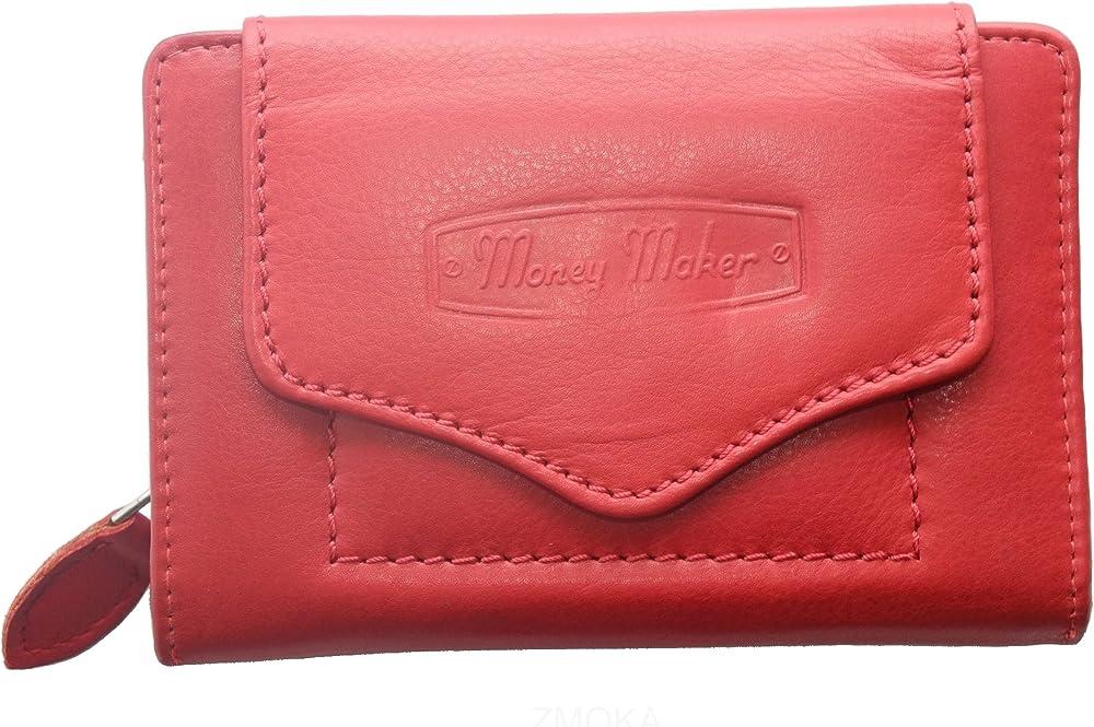 Money maker porta carte di credito portafoglio da donna in pelle