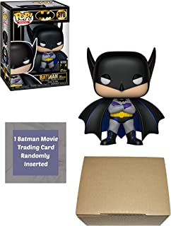 Funko Batman 80th Anniversary 1st Appearance 1939 Pop Vinyl Figure Bundle with 1 Batman Movie Trading Card Ships in 1 Cardboard Protector Box