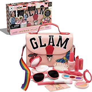 FAO Schwarz Glamour Purse Set, Pretend Play Makeup Kit, Fake Cosmetic for Girls, Includes Lipstick Eye Shadow Hairbrush Na...