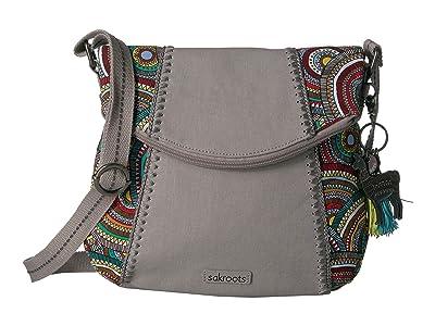Sakroots Artist Circle Foldover Crossbody (Multi Mosaic Wanderlust) Cross Body Handbags