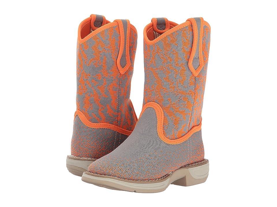 Laredo Kids Comet (Toddler/Little Kid/Big Kid) (Grey/Orange) Cowboy Boots