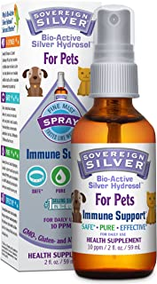 Sovereign Silver for Pets Bio-Active Silver Hydrosol for Immune Support* - 2oz - Fine Mist Spray – Ultimate Refinement Colloidal Silver - Safe*, Pure & Effective* - Premium Silver Supplement