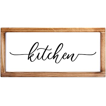Amazon Com Kitchen Sign Rustic Kitchen Decor Sign Modern Farmhouse Kitchen Decor Kitchen Wall Decor Rustic Home Decor Country Kitchen Decor With Solid Wood Frame 8x17 Inch Everything Else