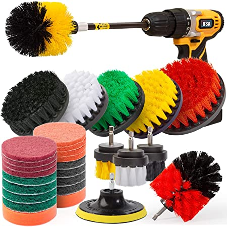 JUSONEY Drill Brush Attachment Drifferent Size and Hardness Easy and Quick Cle
