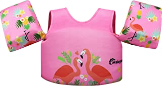 Msicyness Swim Vest for Kids Water Floats for Pool Swimming Paddle Learn to Swim Life Jacket from 30 to 80lbs with Arm Wings for Boys and Girls 2-8 Years