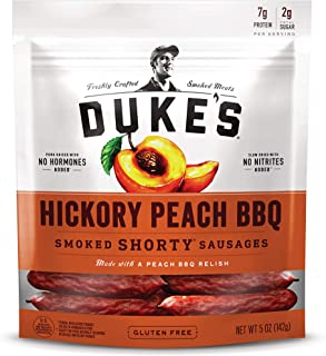 Duke's Hickory Peach BBQ Smoked Shorty Sausages, 5 oz. (Pack of 8)