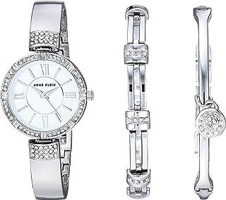 مجموعه ساعت و دستبند برجسته کریستالی Swarovski زنان آنه کلین
