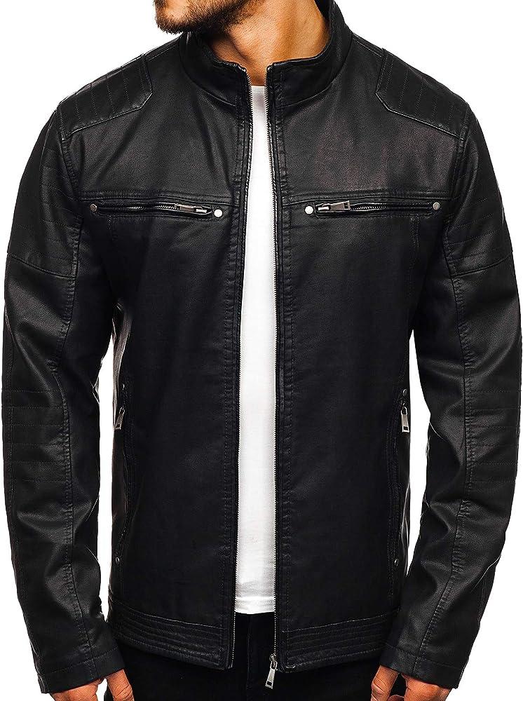 Bolf, giacca,giubotto mezza stagione,in ecopelle,per uomo JUSTBOY 88906