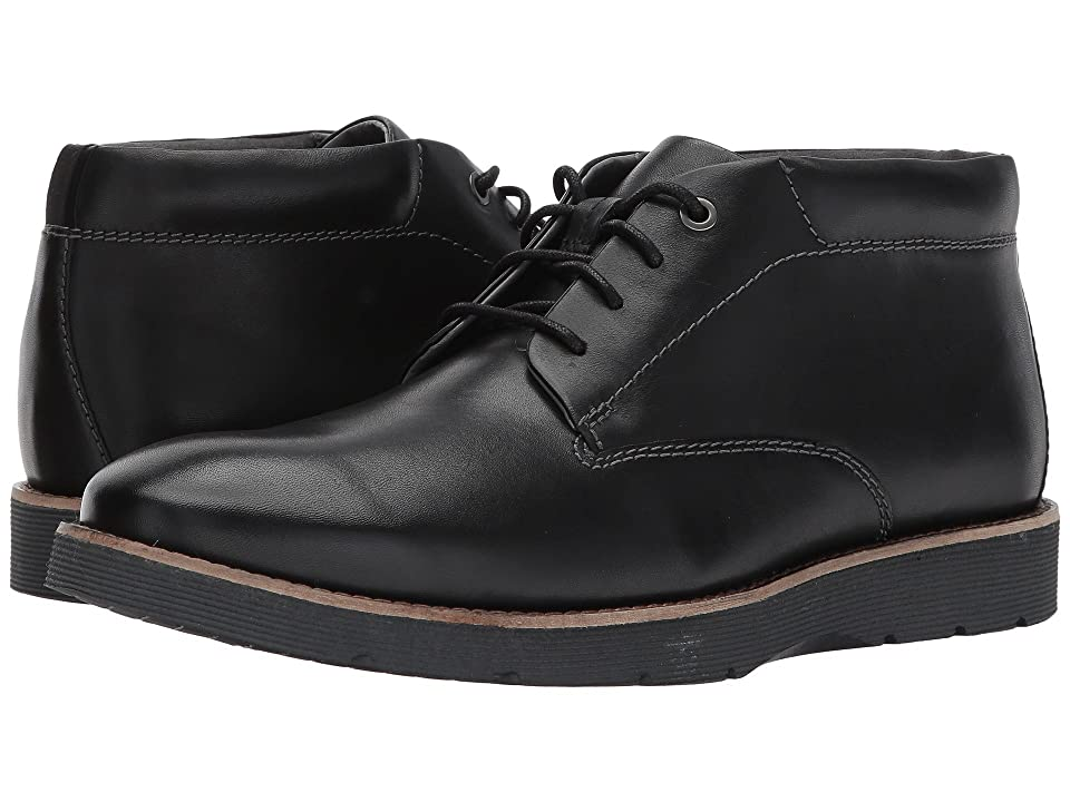Clarks Folcroft Mid (Black Leather) Men