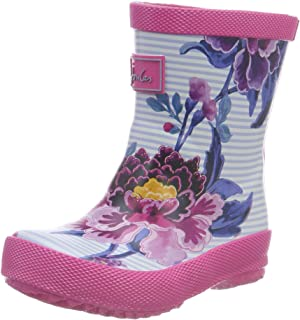 Joules Kids Baby Girl's Printed Welly Baby Rain Boot (Toddler) Sky Blue Chinoiserie Floral 8 Toddler