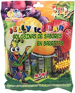 Fruity's Snacks Fruit Jelly Ice Bars 18 Count Tik Tok Challenge - Assorted Flavors Fruity Jelly Snack