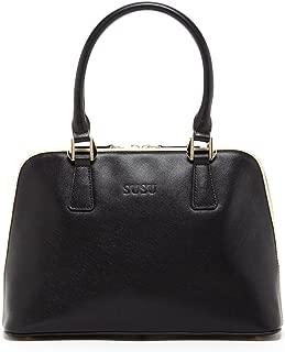 SUSU The Melissa Saffiano Leather Bags For Women Dome Shape Designer Handbags