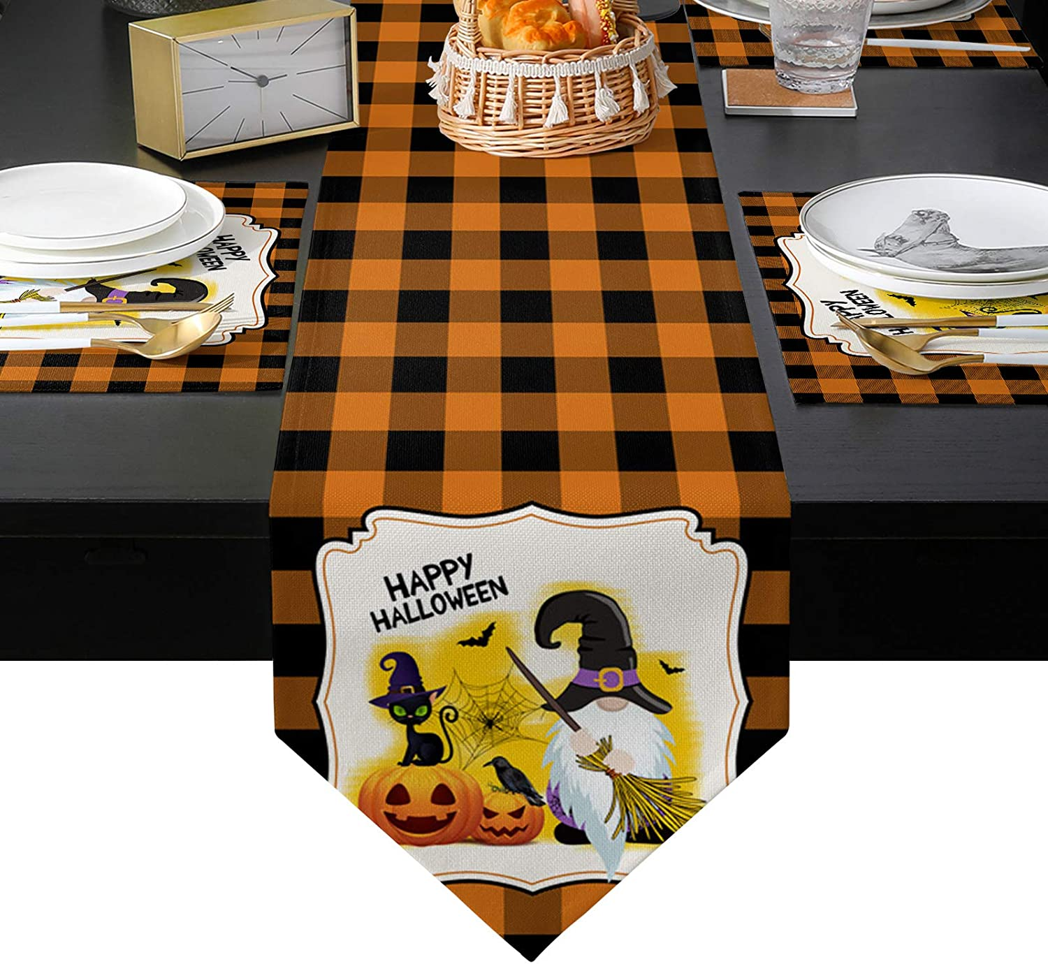 Placemats Large special price !! Set of 6 and Table Over item handling Runner T 70 Dinning for Long inches