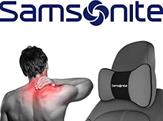 Samsonite SA5249  Travel Pillow for Car, SUV  Helps Relieve Neck Pain & Improve Circulation 100% Pure Memory Foam  Fits Most Vehicles