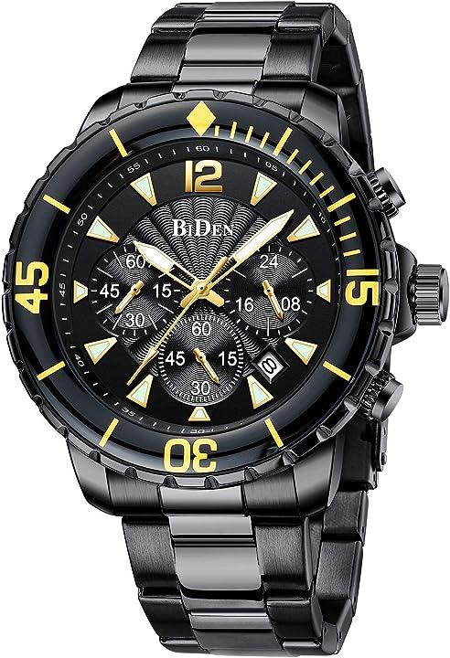 Orologio biden uomo di moda business 30 m impermeabile antigraffio cronografo elegante regalo da uomo 0298