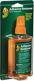 Duck Products - Duck - Adhesive Remover, 5.45 oz. Spray Bottle - Sold As 1 Each - Save time and aggravation by having the right product at hand. - Liquid solution works on duct tape, masking tape, carpet tape, weatherstripping, mounting tape, labels, stickers, gum, tar, caulk and more. - Safe for use on all surfaces. - Sponge applicator for easy and precise application. - Includes built-in scraping tool.