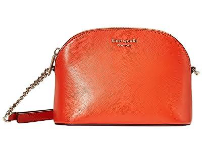 Kate Spade New York Spencer Small Dome Crossbody (Tamarillo) Handbags