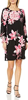 Women's 3/4 Printed Ity with Smocking at Sleeve