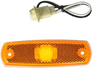 Grote 45713 Yellow Low-Profile Clearance Marker Light without Bezel (Built-in Reflector)