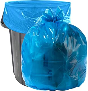 Aluf Plastics 40-45 Gallon Blue Trash Bags - Pack of 100 - Garbage or Recycling Bags 55