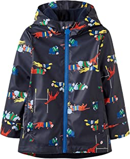 Joules Kids - Printed Rubber Coat (Toddler/Little Kids)