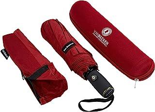 VAN BEEKEN Regenschirm, winddicht, Reise-Regenschirm mit Teflon, leicht, kompakt, tragbar, faltbar, rot Rot - .