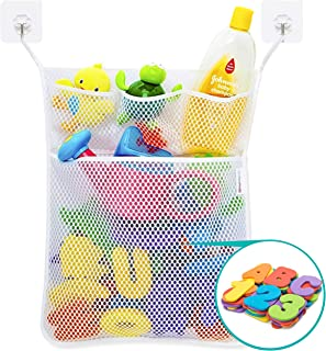 Wemk Bath Numbers and Letter, 36 Pieces Alphabet & Numbers (A-Z, 0-9), with Bath Organizer and 2 Self-Adhesive Hooks, Best...