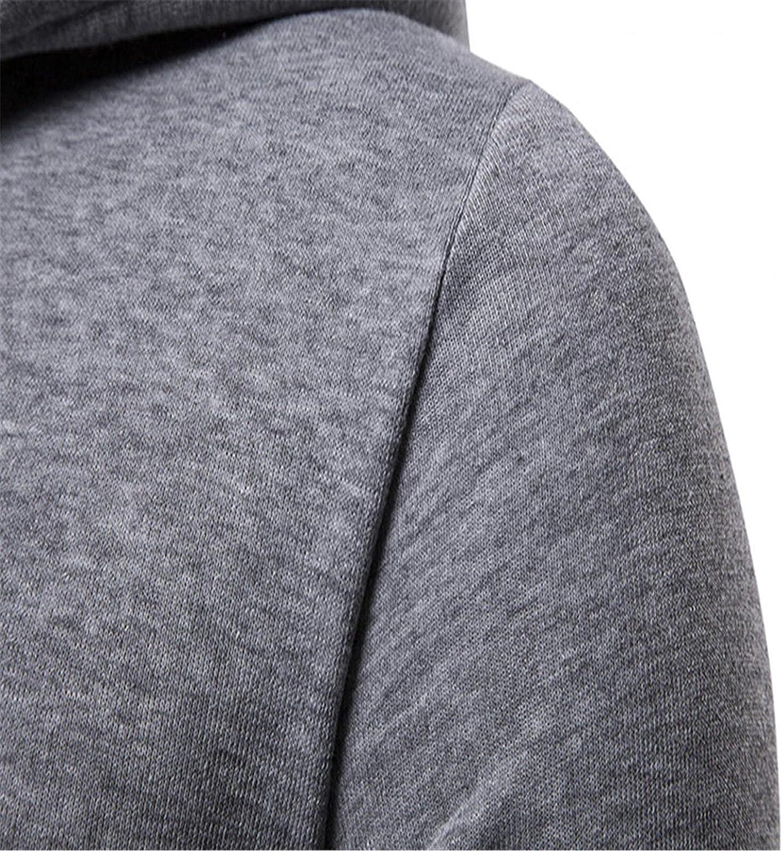Men's Fashion Hoodies Novelty Pullover Slim Fit Fleece Hooded Long Sleeve Casual V Neck Sweatshirts with Kanga Pocket