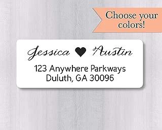 60ct - Wedding Invitation Return Address Labels, Wedding Invitation Return Address Stickers (#338-WH)