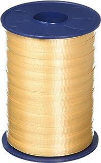 "Morex Ribbon Crimped Curling Ribbon Morex, 3/16"" x 500 yd, Soft Gold"