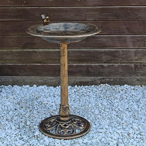 CLGarden VGT3 Bains d'oiseaux, potions d'eau, potions d'oiseaux, Fontaine à Oiseaux avec Oiseau décoratif