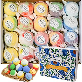 Bath Bombs Gift Set, 20 Wonderful Fizz Effect Handmade Bath Bombs for Valentine's Day, Christmas, Mother's Day, Father's Day, Children's Day, Birthday, Thanksgiving Day& Any Anniversaries