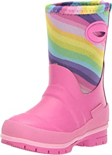 Western Chief Kid's Cold Rated Neoprene Memory Foam Snow Boot, Glitter Rainbow